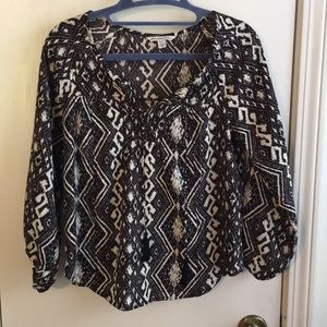 American Eagle Outfitters Flowy Black & White Top